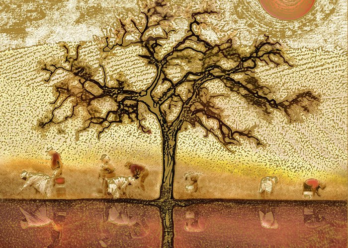 Greeting Card featuring the digital art Under The California Sun by Artist and Photographer Laura Wrede