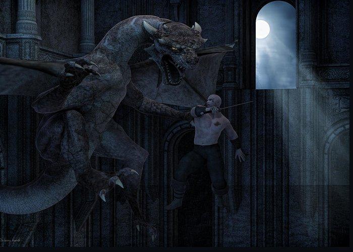 Dungeons Digital Art Greeting Cards