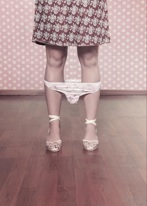 Female Greeting Card featuring the photograph Underpants by Joana Kruse