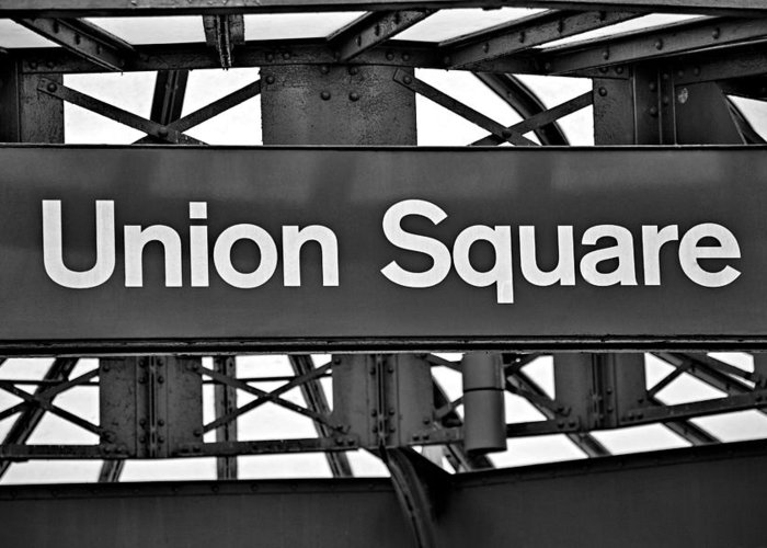 Union Square Greeting Card featuring the photograph Union Square by Susan Candelario