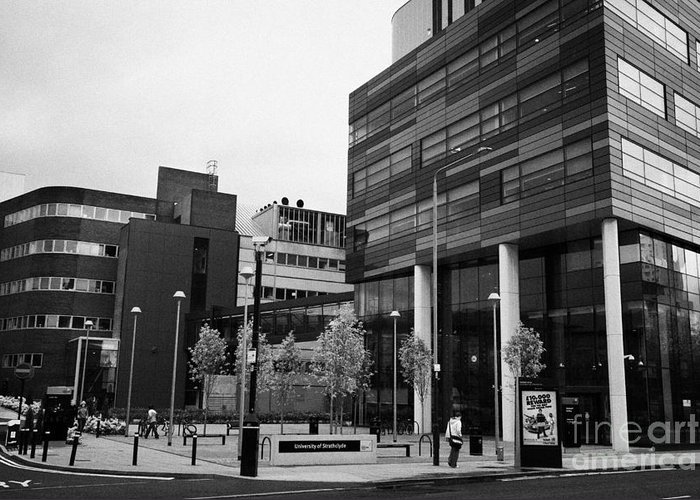 University Greeting Card featuring the photograph university of strathclyde buildings in Glasgow Scotland UK by Joe Fox