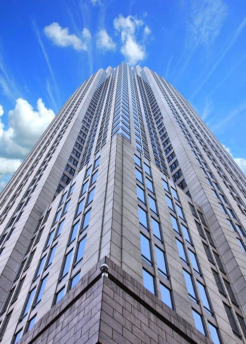 Charlotte North Carolina Highrise Greeting Card featuring the photograph Up In The Sky by Kenneth Mucke