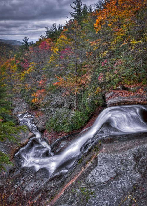 Waterfalls Greeting Card featuring the photograph Upper Creek Falls by Williams-Cairns Photography LLC