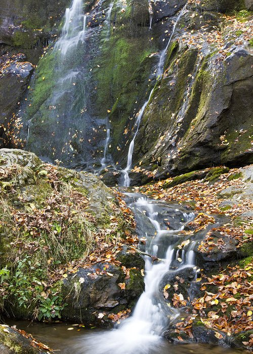 Shenandoah Greeting Card featuring the photograph Upper Dark Hollow Falls In Shenandoah National Park by Pierre Leclerc Photography