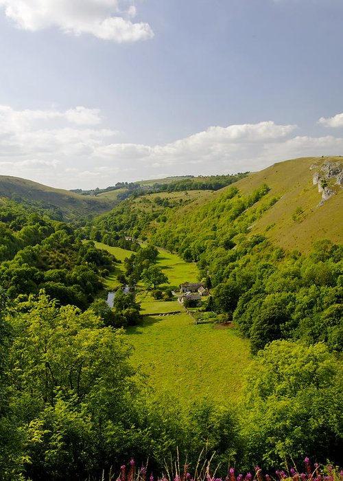 Derbyshire Greeting Card featuring the photograph Upperdale From Monsal Head by Rod Johnson
