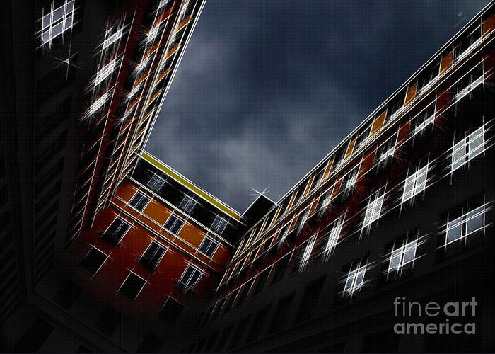 Architecture Greeting Card featuring the photograph Urban Drawing by Hannes Cmarits