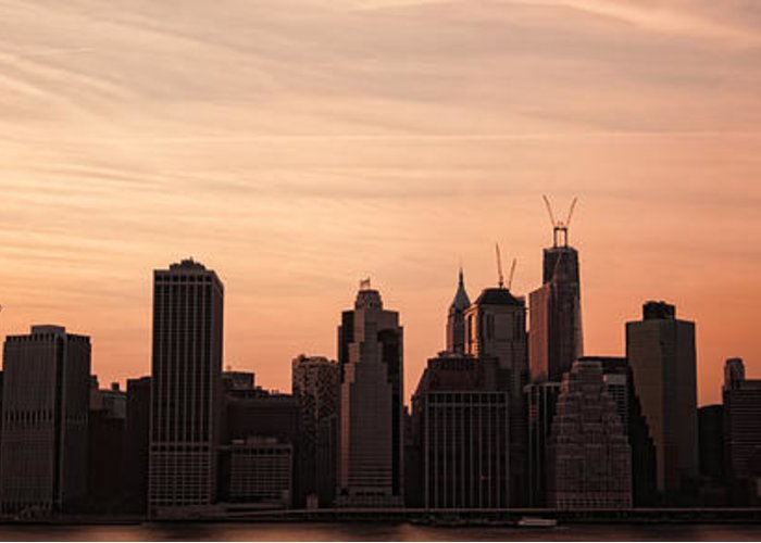 Manhattan Greeting Card featuring the photograph Urban Dreaming by Andrew Paranavitana