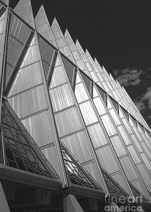 Greeting Card featuring the photograph Us Air Force Academy Chapel 2 by David Bearden