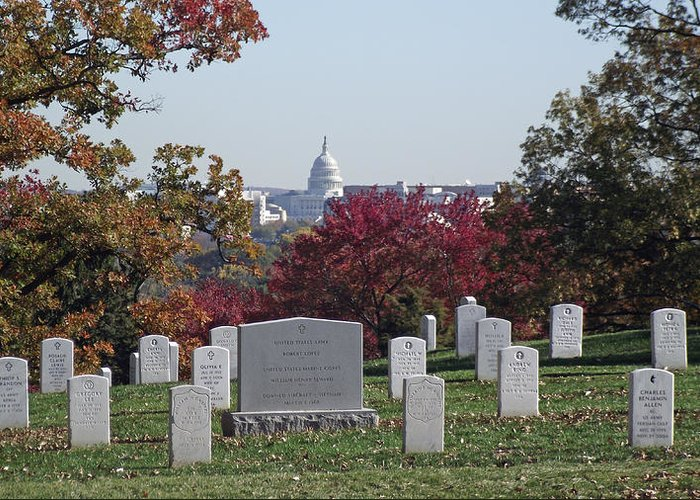 Arlington Greeting Card featuring the photograph Us Capitol by Stephen Ogle