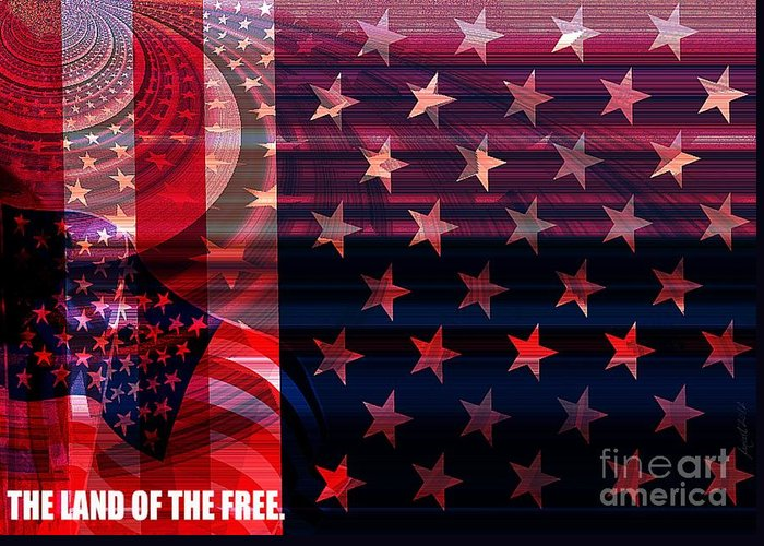 Fania Simon Greeting Card featuring the mixed media U.s Is On The Continent by Fania Simon
