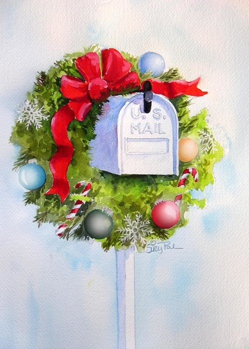 Mail Box Greeting Card featuring the painting Us Mail by Suzy Pal Powell
