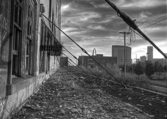 St. Louis Greeting Card featuring the photograph Usa's Most Dangerous City by Jane Linders
