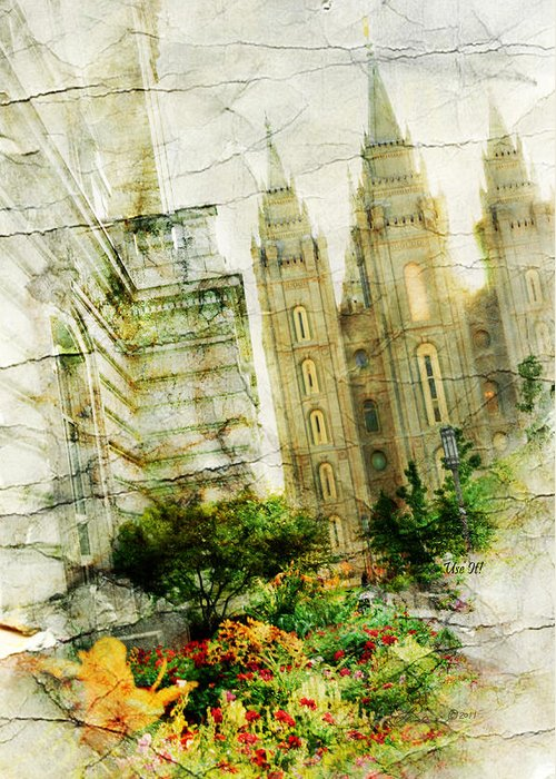 Temples Greeting Card featuring the photograph Use It Slc by La Rae Roberts