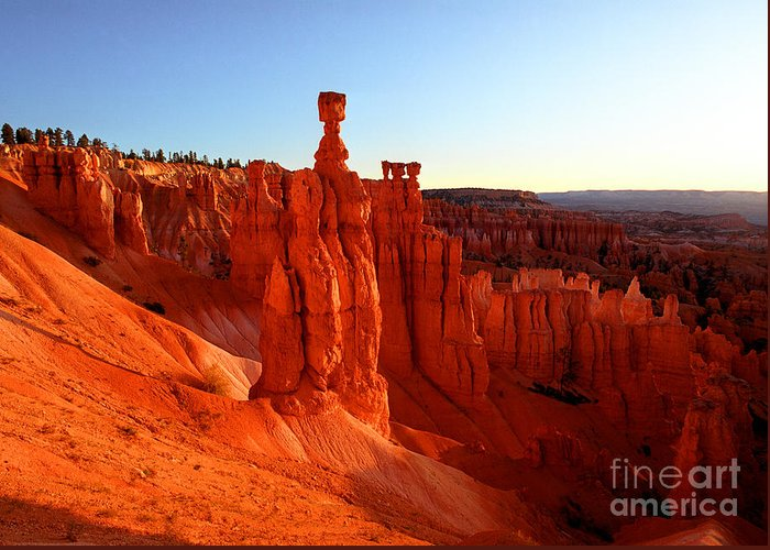 Thor's Hammer Greeting Card featuring the photograph Utah - Thor's Hammer 2 by Terry Elniski