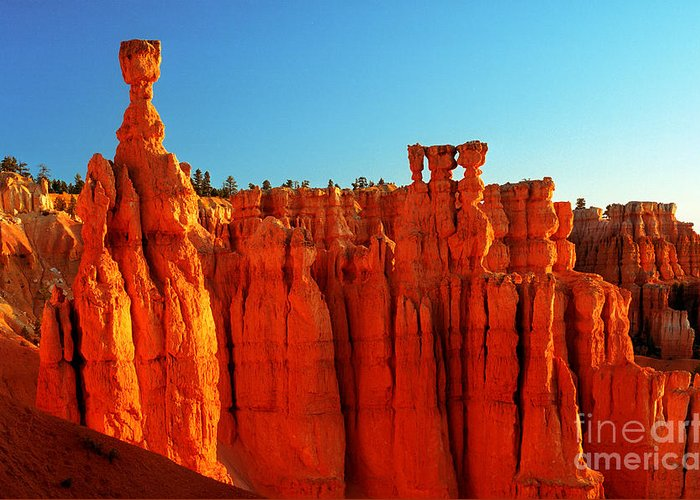 Thor's Hammer Greeting Card featuring the photograph Utah - Thor's Hammer 3 by Terry Elniski