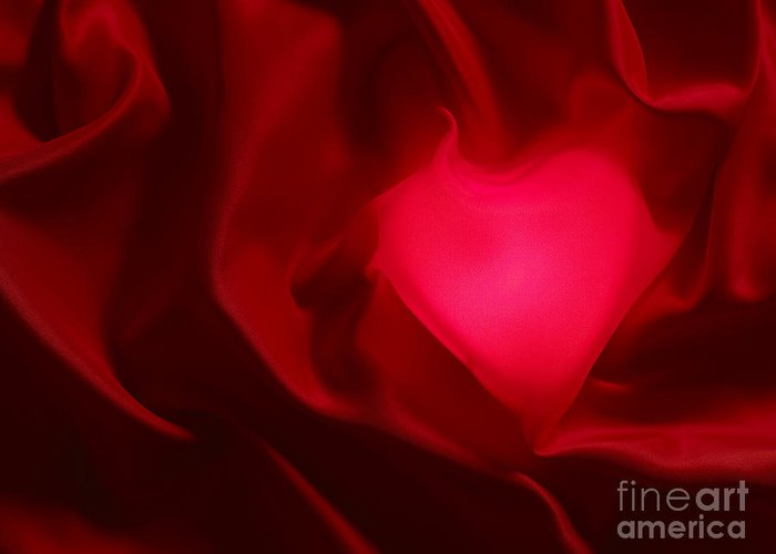Valentine Greeting Card featuring the photograph Valentine Heart by Tony Cordoza
