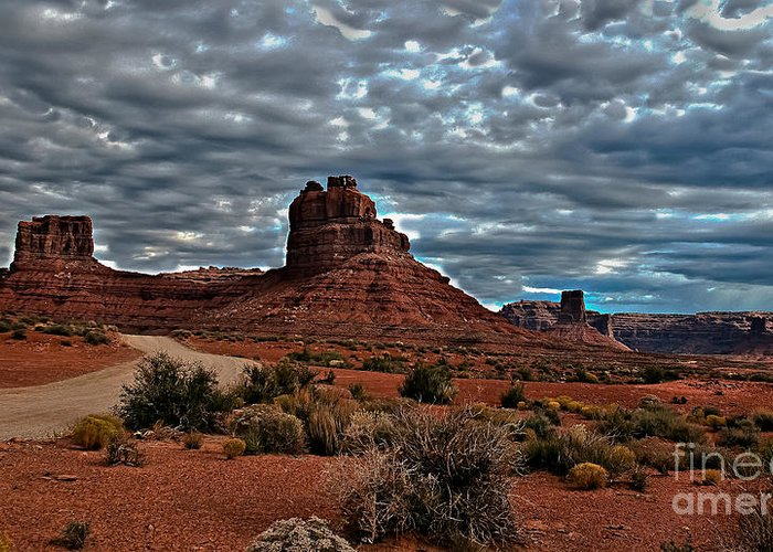 Greeting Card featuring the photograph Valley Of The Gods II by Robert Bales