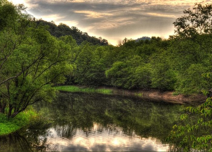 Murphy North Carolina Greeting Card featuring the photograph Valley River by Greg and Chrystal Mimbs