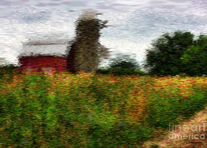 Van Gogh Style Greeting Card featuring the photograph Van Gogh At The Barn by David Bearden