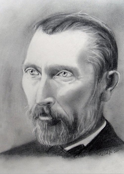 Van Gogh Pencil Portrait Greeting Card For Sale By Andrea Realpe