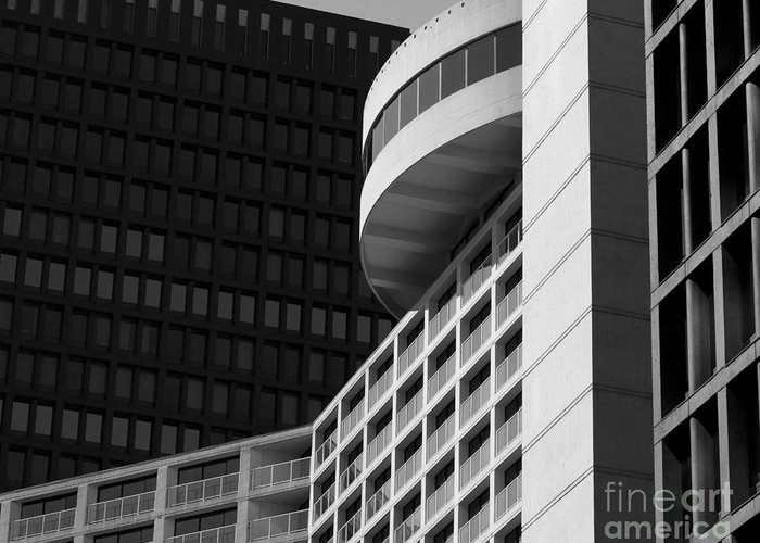 Building Greeting Card featuring the photograph Vancouver Architecture by Chris Dutton