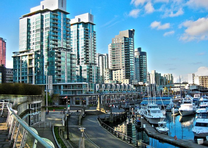 Vancouver Harbour Greeting Card featuring the photograph Vancouver Harbour by Kamil Swiatek