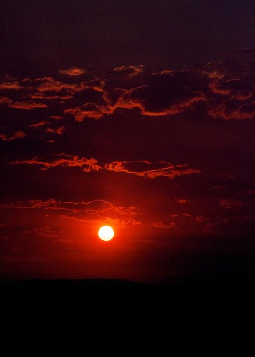 Sunset Greeting Card featuring the photograph Velvet Sun by Kevin Bone