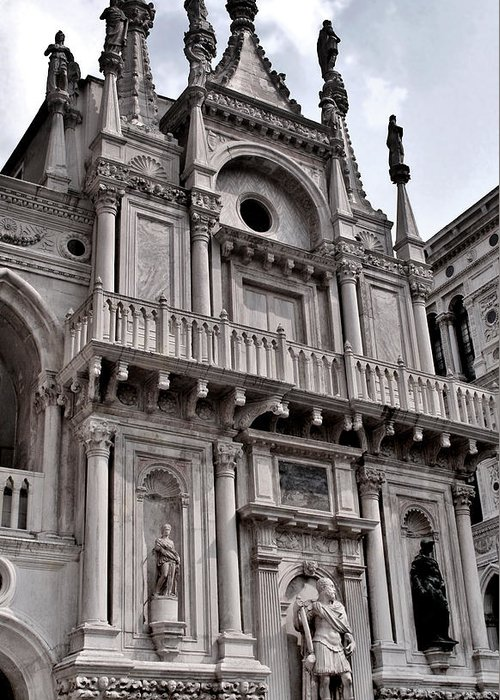 Venice Greeting Card featuring the photograph Venetian Architecture Iv by Ellen Heaverlo