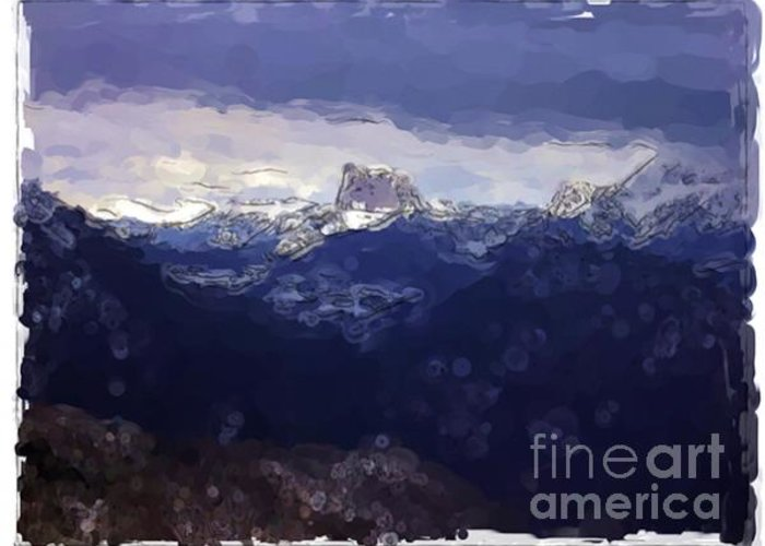 Landscapes Greeting Card featuring the painting Vercors - France by Franck Guarinos