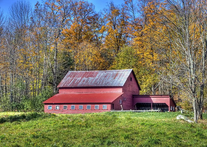 Vermont Photographs Greeting Card featuring the photograph Vermont Barn by Dennis Clark