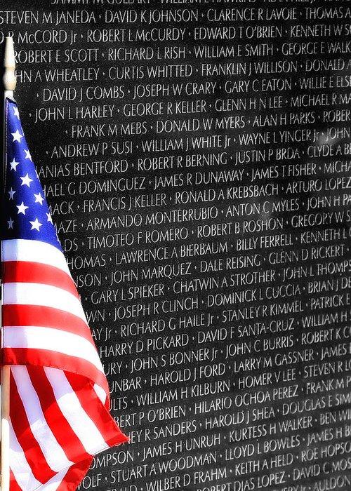 Veterans Memorial Greeting Card featuring the photograph Veterans Memorial by Joe Myeress
