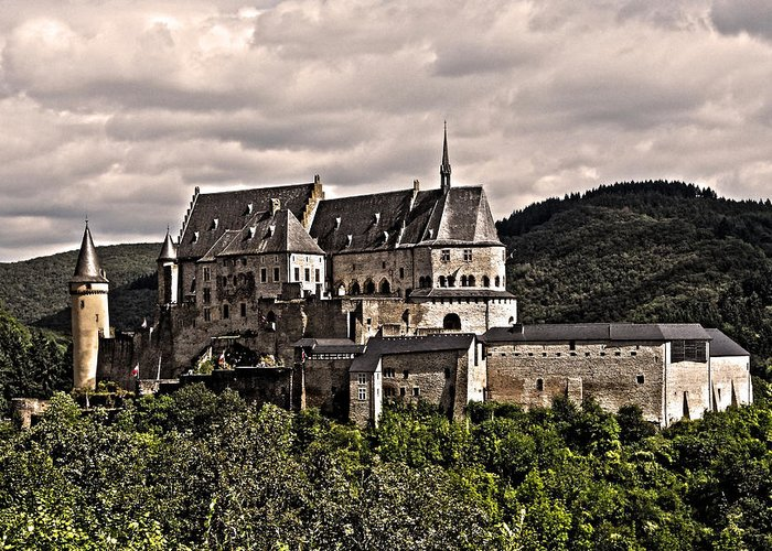 Europe Greeting Card featuring the photograph Vianden Castle - Luxembourg by Juergen Weiss