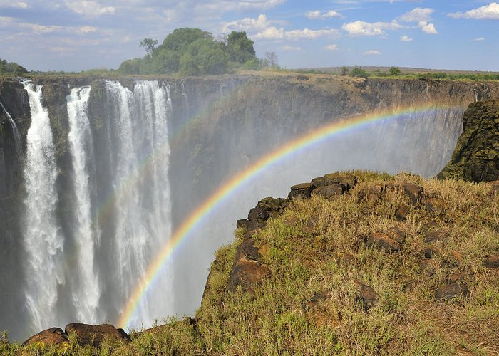 Victoria Falls Greeting Card featuring the photograph Victoria Falls by Tony Beck