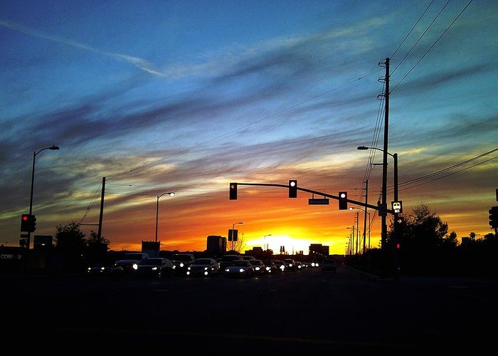 Cloud Photographs Greeting Card featuring the photograph Victory Blvd 5 by Russell Jenkins
