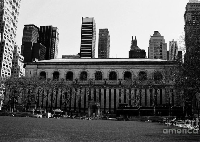 Bryant Park Greeting Card featuring the photograph View From Bryant Park Nyc by Trude Janssen