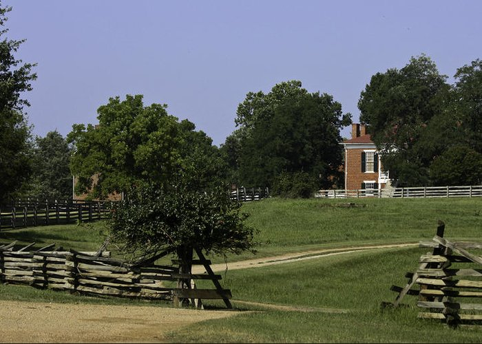 Appomattox Greeting Card featuring the photograph View Of Appomattox Courthouse 1 by Teresa Mucha