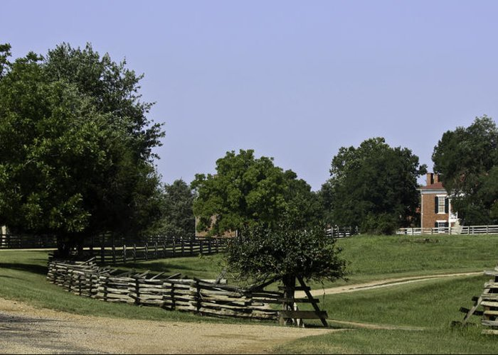 Appomattox Greeting Card featuring the photograph View Of Appomattox Courthouse 2 by Teresa Mucha