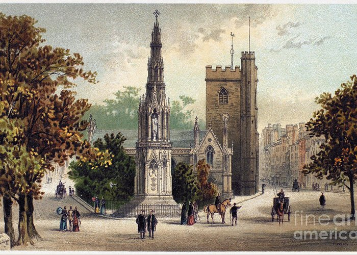 1885 Greeting Card featuring the photograph View Of Oxford, C1885 by Granger