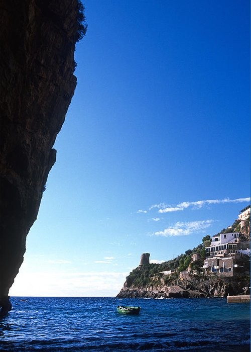 Praiano Greeting Card featuring the photograph View Of Praiano Italy by Cliff Wassmann