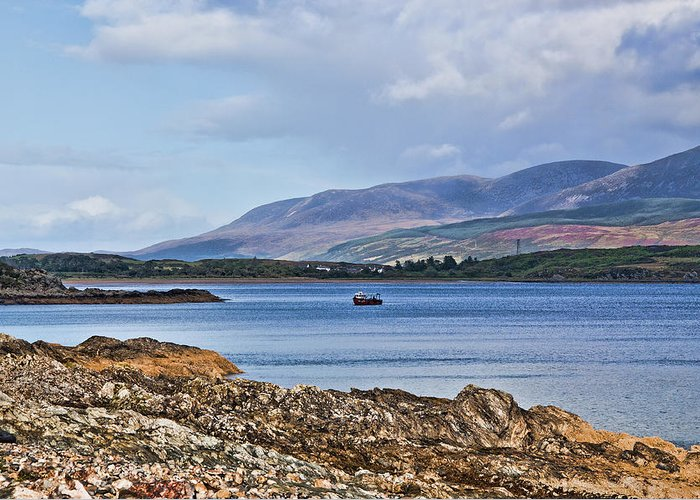 Isle Of Arran Greeting Card featuring the photograph View Of The Isle Of Arran by Chris Thaxter