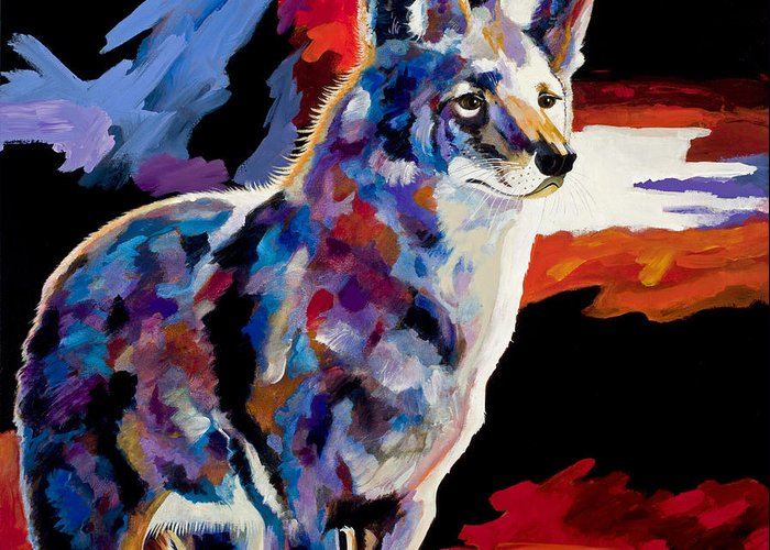 Wildlife Art Greeting Card featuring the painting Vigilant by Bob Coonts