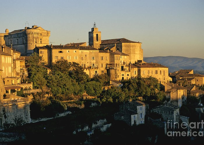 France Greeting Card featuring the photograph Village De Gordes. Vaucluse. France. Europe by Bernard Jaubert