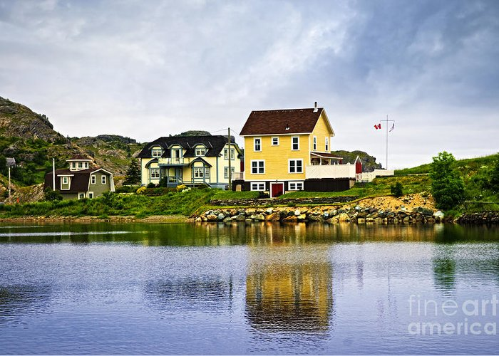 Fishing Greeting Card featuring the photograph Village In Newfoundland by Elena Elisseeva