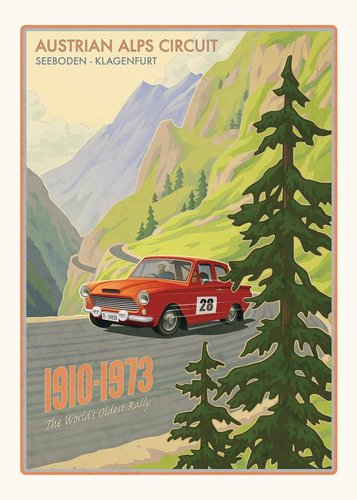 Rally Digital Art Greeting Cards