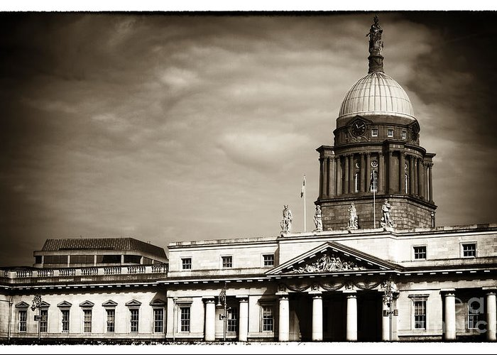 Vintage Custom House Greeting Card featuring the photograph Vintage Custom House by John Rizzuto