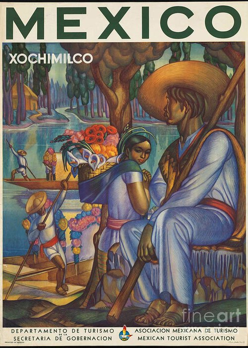 Mexico Greeting Card featuring the photograph Vintage Mexico Travel Poster by George Pedro