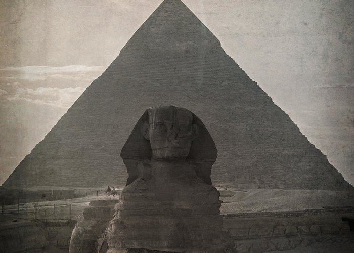 Africa Greeting Card featuring the photograph Vintage Sphinx by Jane Rix