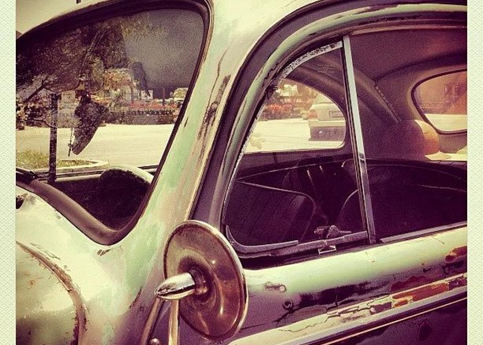 Volkswagon Greeting Card featuring the photograph Vintage VW by Gwyn Newcombe