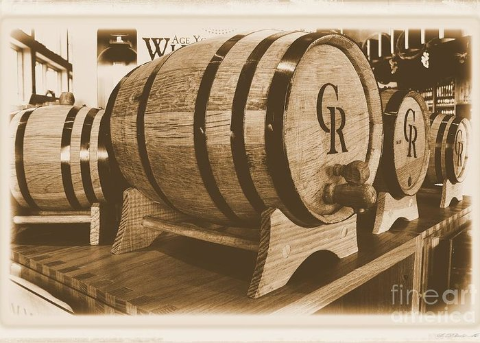 Photo Greeting Card featuring the photograph Vintage Winery Photo by Marsha Heiken