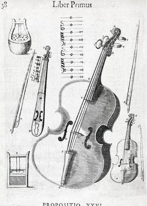 Violin Greeting Card featuring the photograph Violin, 17th Century Artwork by Middle Temple Library